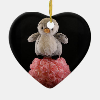 Frenchie the Penguin Christmas Ornament