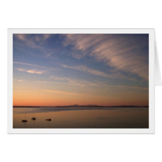 Frenchman Bay at Dusk Note Card