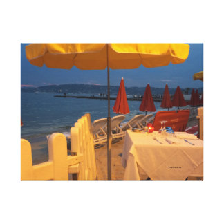 Frenchriviera table canvas print