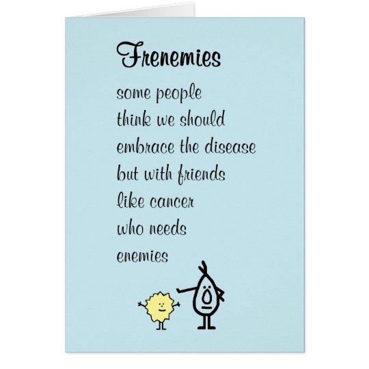Frenemies – a funny feel better soon poem