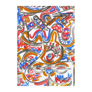 Frenetic Energy-Modern Art Colorful Whimsical Bold