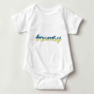 Frequency Blue/Yellow Baby Bodysuit