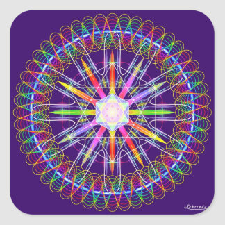 Frequency + Intent = Healing Square Sticker