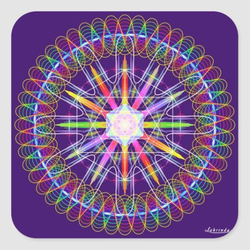 Frequency + Intent = Healing Square Stickers