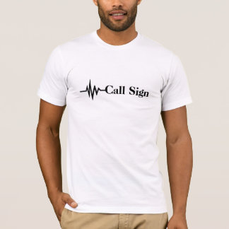 Frequency Line Call Sign T-shirt