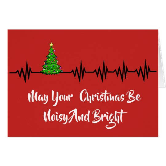 Frequency Lines & Christmas Tree Greeting Card