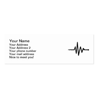 Frequency music business card template