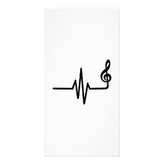 Frequency music note picture card