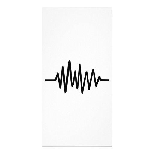 Frequency music pulse photo card template