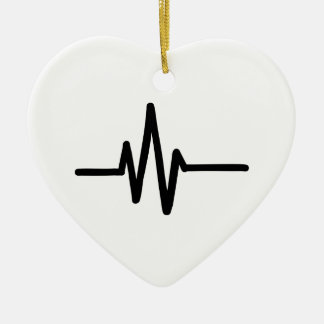 Frequency pulse heartbeat ceramic heart decoration