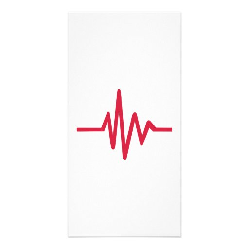 Frequency pulse heartbeat photo cards