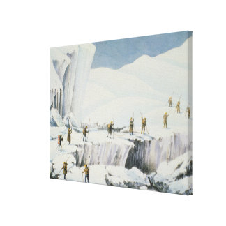 Frequent Appearance of the Ice with Bridges of Sno Canvas Print