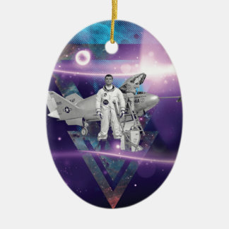 Frequent Flyer by Night Ceramic Oval Decoration