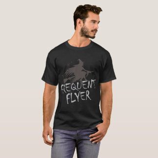 Frequent Flyer Funny Halloween Witch T-Shirt