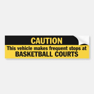 Frequent Stops (Basketball) Bumper Sticker