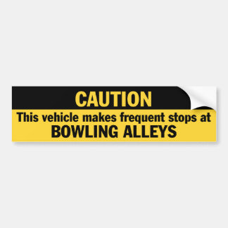Frequent Stops (Bowling) Bumper Sticker