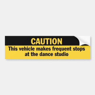 Frequent Stops Dance Studio bumper sticker