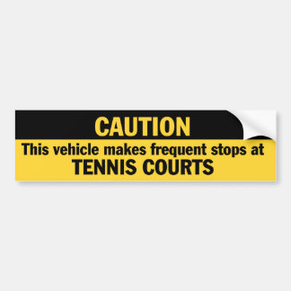 Frequent Stops (Tennis) Bumper Sticker