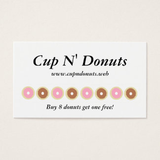 """""""Frequent Visitor"""" (8 Donuts) Loyalty Cards"""