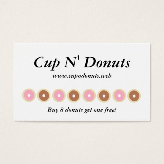 """""""Frequent Visitor"""" (8 Doughnuts) Loyalty Cards"""