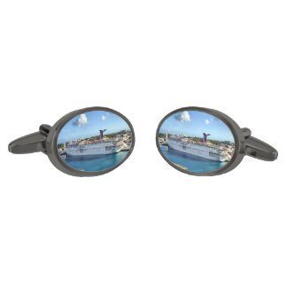 Frequent Visitor Gunmetal Finish Cufflinks
