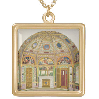 Fresco decoration in the Summer House of Buckingha Gold Plated Necklace