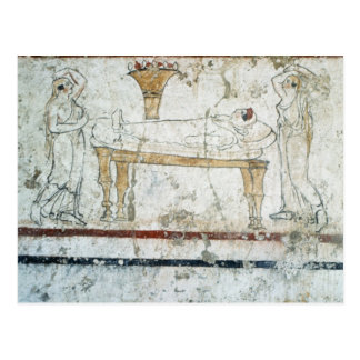 Fresco from the Tomb of Gaudio, c.480 BC Postcard