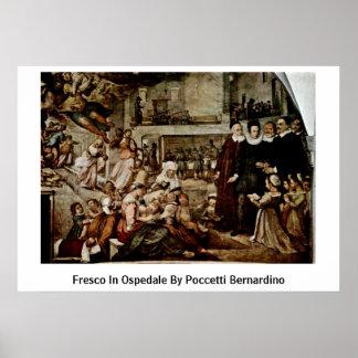 Fresco In Ospedale By Poccetti Bernardino Posters