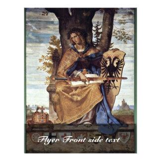 Fresco In The Stadel Institute Right Side Scene Full Color Flyer