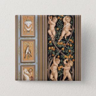 Fresco of Cupids from the Church of St. Ambroglio, 15 Cm Square Badge