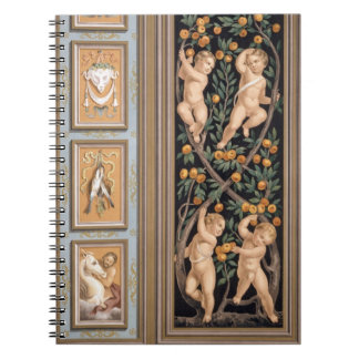 Fresco of Cupids from the Church of St. Ambroglio, Spiral Notebook
