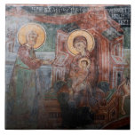Frescoes from the 14th Century Serbian Church, 2 Tile