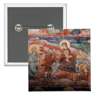 Frescoes from the 14th Century Serbian Church, 15 Cm Square Badge