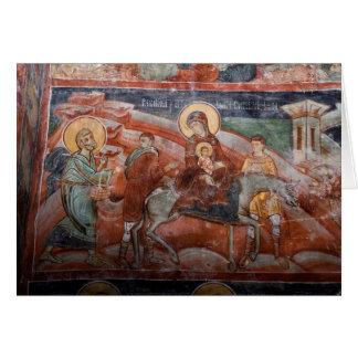 Frescoes from the 14th Century Serbian Church, Greeting Card
