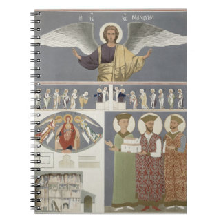 Frescoes from the Orthodox Church of Nekrssi near Spiral Notebook