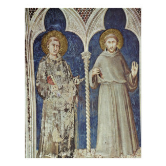 Frescoes With Scenes From The Life Of St. Martin 21.5 Cm X 28 Cm Flyer