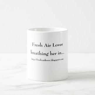 Fresh Air Lover, breathing her in..., http://fr... Basic White Mug