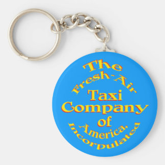 Fresh-Air Taxi Company of America, Incorpulated Basic Round Button Key Ring