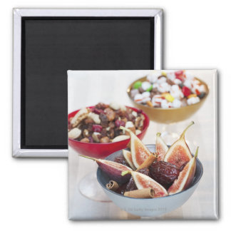 Fresh and dried fruits in bowls magnet