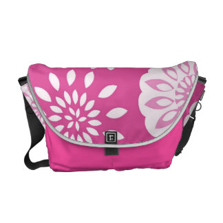 Fresh and Fancy Pink Splash Blossom Botanical Commuter Bags