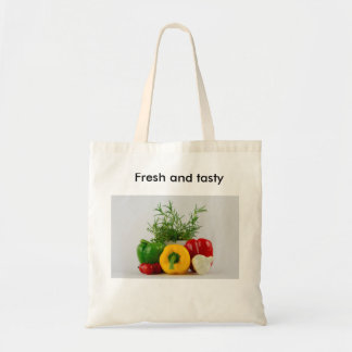 Fresh and tasty budget tote bag