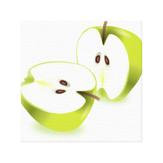 Fresh apple. canvas print