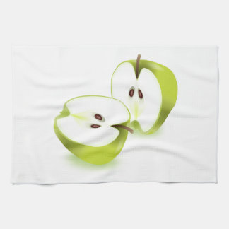 Fresh apple. hand towels
