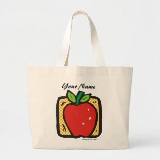 Fresh Apple. Large Tote Bag