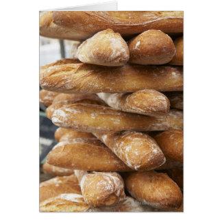 Fresh artisan baguettes card