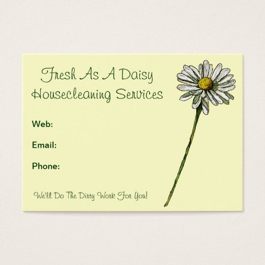 Fresh As A Daisy: Housecleaning Services, Cleaners Business