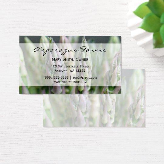 Fresh Asparagus Business Card