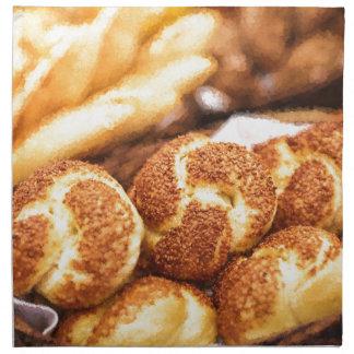 Fresh baked bread napkins