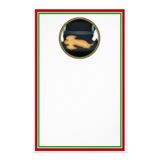 Fresh Baked Christmas Angel Cookie Stationery
