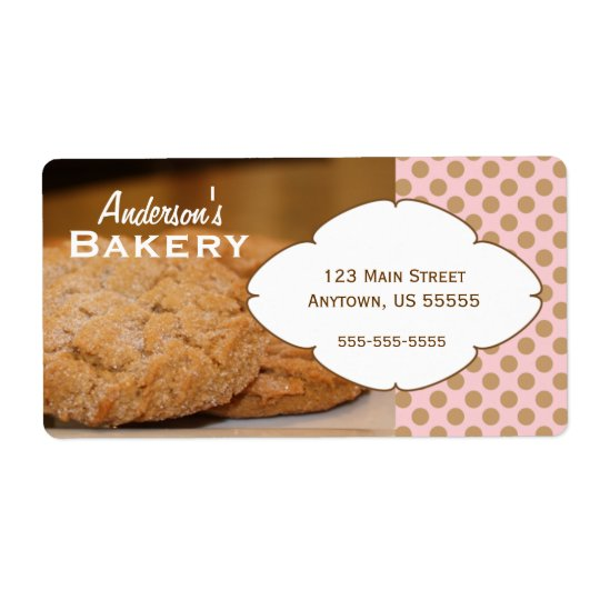 Fresh Baked Cookies Photo Bakery Sticker Shipping Label